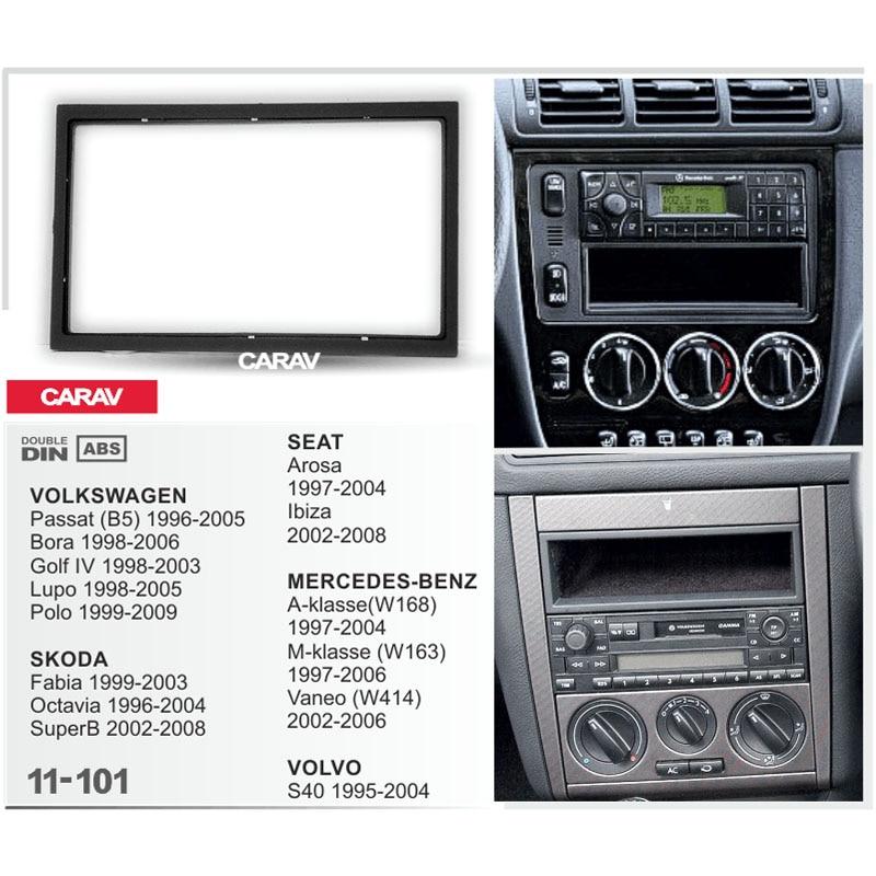 Us 4 99 Double Din Fascia For Mercedes Benz Volkswagen Skoda Seat Arosa Volvo Radio Dvd Stereo Panel Dash Mount Install Trim Kit Refit In Universal