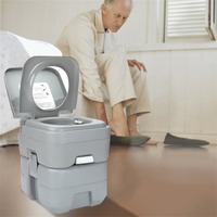 Portable Camping Toilet Loo Caravan Flush Travel Indoor Outdoor Hiking Boating Potty Commode Removable Toilet