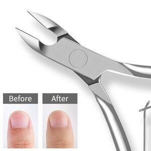 Image 5 - สแตนเลสสตีล Cuticle Nipper Professional Remover กรรไกรตัดเล็บทำเล็บมือเล็บ Dead Skin เครื่องมือ Gold และ Sliver