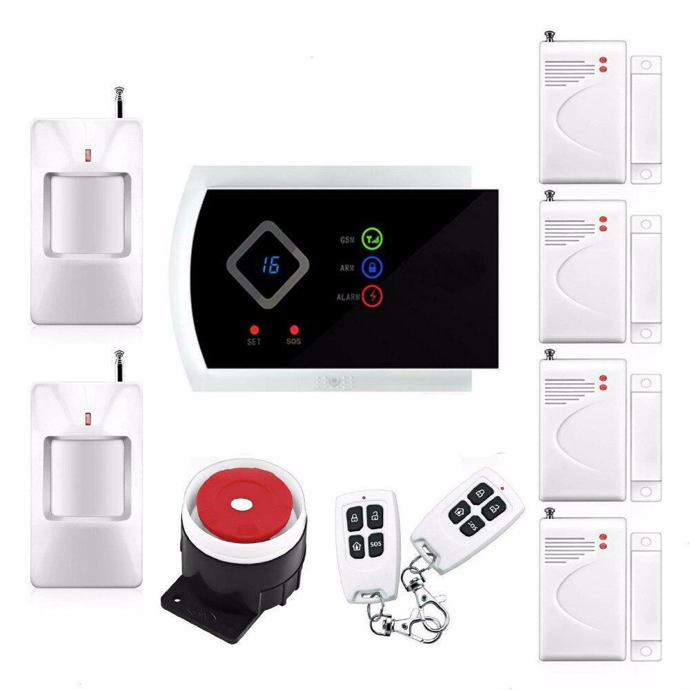 ФОТО 2016 New Arrival Russian Spanish Italian Slovak Voice Home Security Kit Alarm GSM Wireless APP Remote Control PIR/Door Sensor