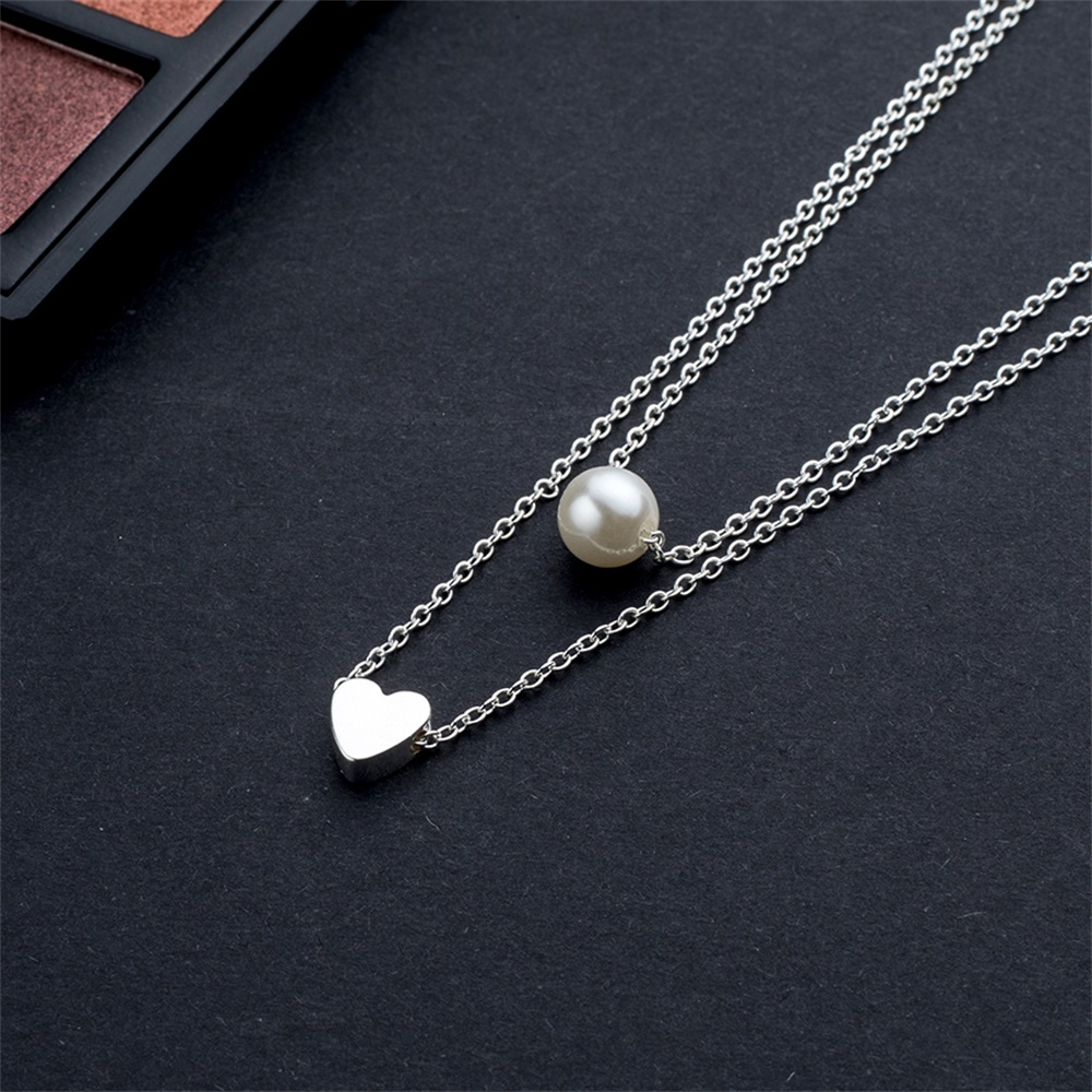 VKME модное жемчужное ожерелье с двойным слоем Love аксессуары Женское Ожерелье Bijoux подарки
