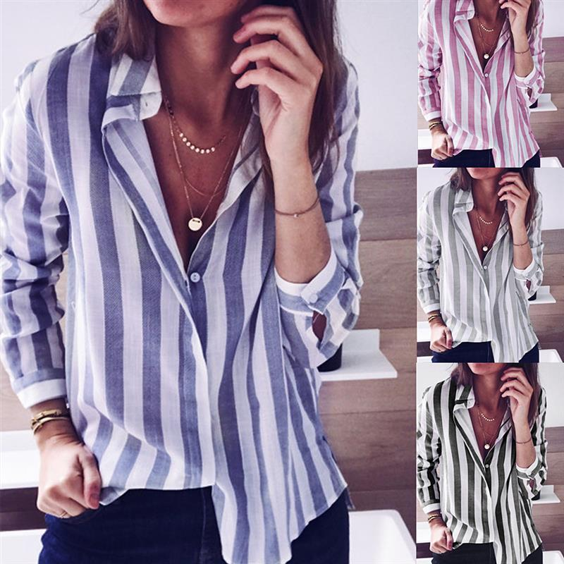 Female-Blouses-Stripe-Blouse-Shirt-Women-Autumn-Turn-Down-Collar-Blusas-2018-Causal-Ladies-Work-Wear (2)