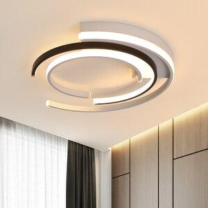 Image 4 - Lustre de plafond plafonnier moderne Modern LED Luzes de Teto sala de estar Quarto luminária Branco Preto LEVOU Rodada Lâmpada Do Teto