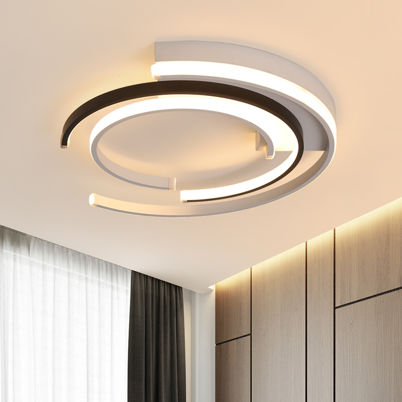 Lustre De Plafond Moderne Modern Led Ceiling Lights Living Room Bedroom Luminaire Plafonnier White Black Round Led Ceiling Lamp Lampu Langit Langit Aliexpress