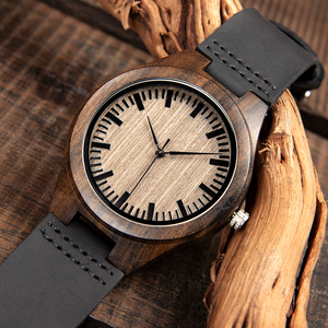 Image 3 - BOBO BIRD Fashion Classic Men Wood Watch Ebony Handmade Quartz Wristwatch Timepiece Best Gift erkek kol saati In Box L F08