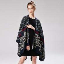 Хиджаб Brsnd высокое качество женские зимние модные пончо и накидки с капюшоном толстые теплые шали шарфы женская верхняя одежда