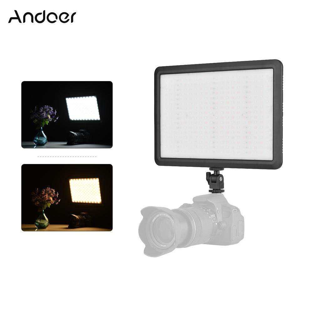 Studio Lighting For Streaming: Andoer DSLR Camera LED Video Light Photo Lighting On