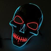 El Draad DIY Licht Halloween Party Masker Halloween Glowling Schedel Masker Knipperende Terroristische Masker Cosplay Party Masker