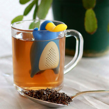 1PCS Hot Sale Penguin Shape Owl Tea Bags Strainers Silicone