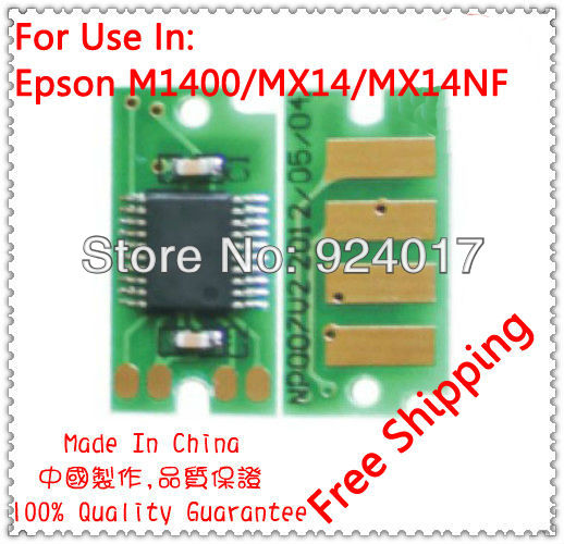 Compatible Epson M1400 MX14 Toner Chip,For Epson Aculaser M1400 MX14 MX14NF C13S050651 C13S050652 Printer Refill Toner Chip,20PC