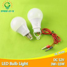 New Cable Clip / E27 LED Bulb DC 12V /AC 220V Portable Hang Light Lamp 3W 5W 7W 9W 12W 15W For Outdoor Camping Fishing Emergency