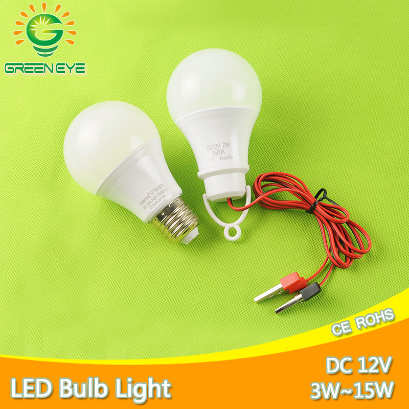 New Cable Clip / <font><b>E27</b></font> <font><b>LED</b></font> <font><b>Bulb</b></font> DC <font><b>12V</b></font> /AC 220V Portable Hang Light Lamp 3W 5W 7W 9W 12W 15W For Outdoor Camping Fishing Emergency image