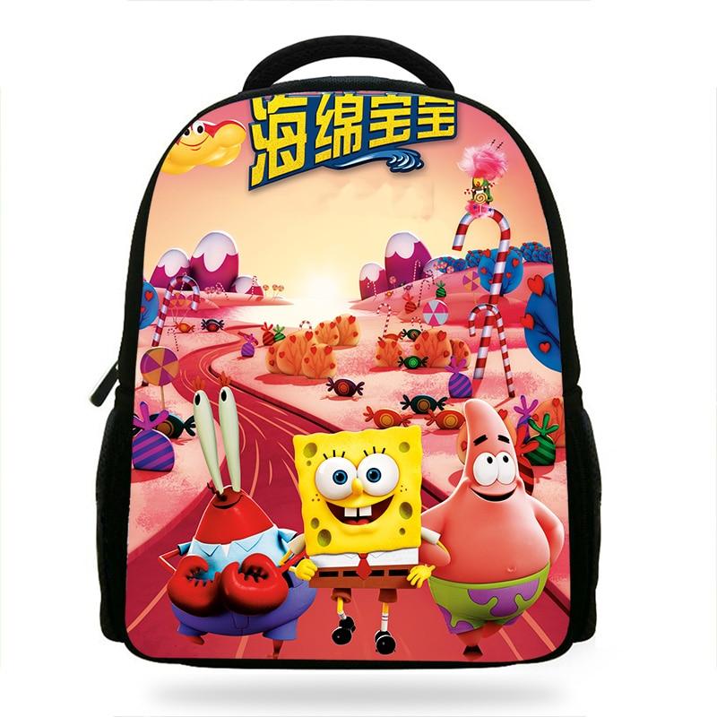 14 Zoll Mochila Kinder Rucksack Cartoon Der Spongebob Film Jungen Schwamm Aus Wasser Druck Kinder Schultaschen Für Jugendliche