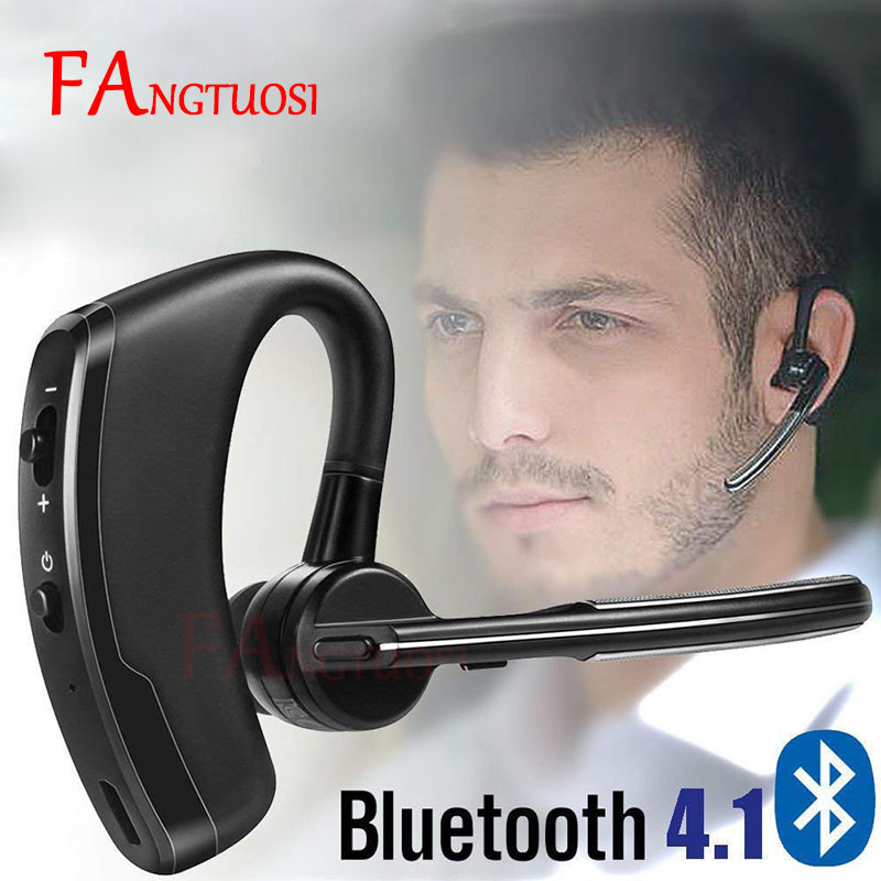 FANGTUOSI Wireless Bluetooth Headset Business Stereo Phone Earphone For IPhone X 8 7 PLUS Sport Handsfree MIC Music Headset