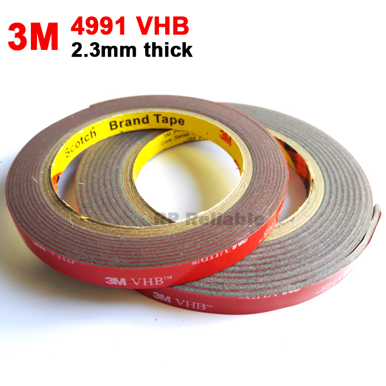 3M VHB 4991 Double Sided Adhesive Acrylic Foam Mounting Tape Gray 2.3mm Thickness Very High Bond3M VHB 4991 Double Sided Adhesive Acrylic Foam Mounting Tape Gray 2.3mm Thickness Very High Bond