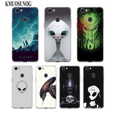 Transparent Soft Silicone Phone Case Alien for OPPO F5 F7 F9 A5 A7 R9S R15 R17 Cover