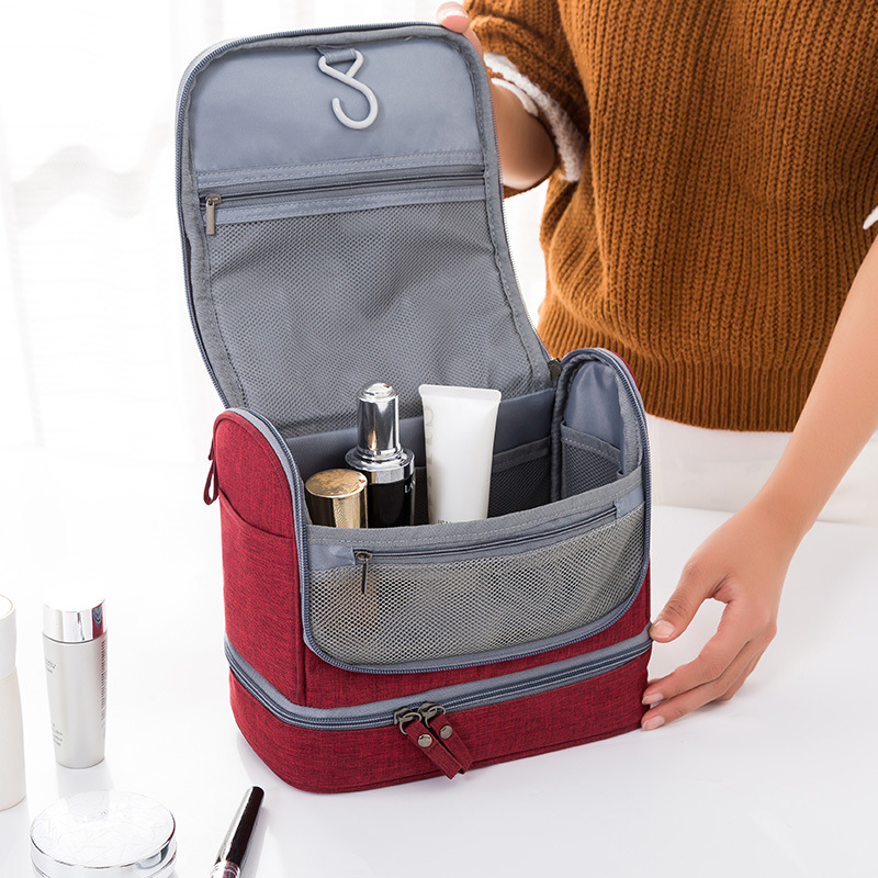 Waterproof double-layer travel cosmetics set men and women portable cosmetic bag beauty bag storage box carrying case image