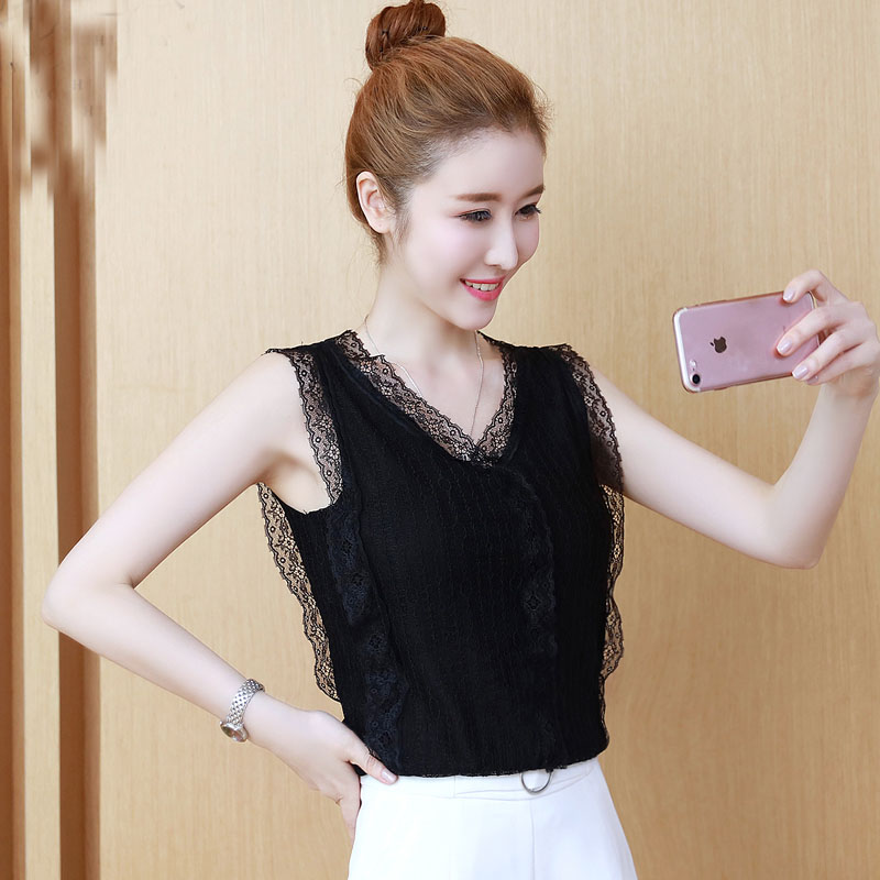 1a5204a2d9 2019 New Fashion Women Sexy V-neck Collar Blouse Sleeveless Plus 2XL Solid  Color Shirt