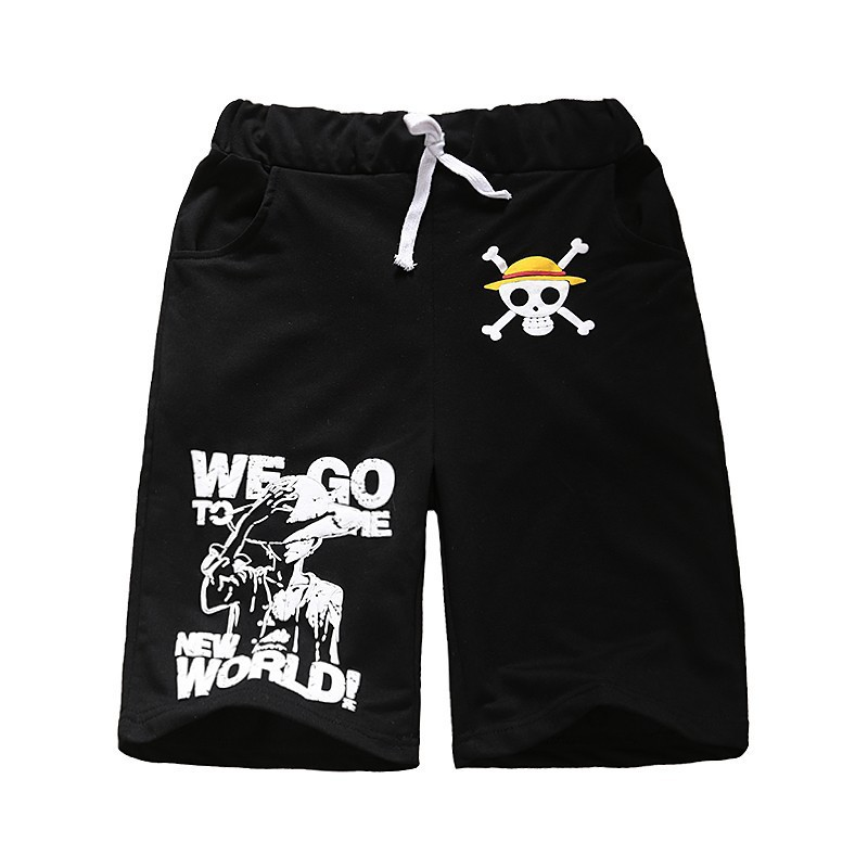 New Hot Shorts Adults Anime One Piece Luffy Shorts Knee-length Shorts Beach Shorts For Unisex