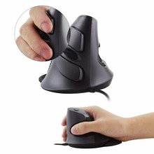 Delux M618 Vertical Mouse Wired USB Cable Gaming Mouse Ergonomic Optical Mause Wholesome Hand-helded Mice For Laptop PC Laptop computer