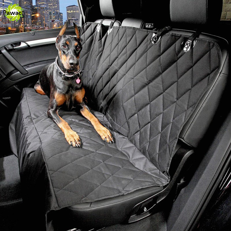 Black Pet Dog Car Rear Bench Back Seat Cover Mat Waterproof Hammock Style And