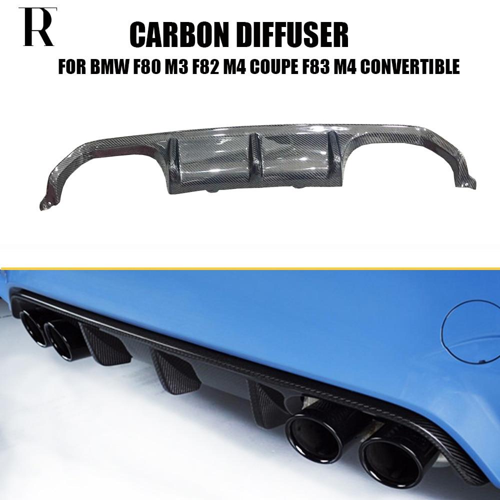 M3 M4 M Performance Style Carbon Fiber Rear Bumper Diffuser for BMW F80 M3 F82 M4 Coupe & F83 M4 Convertible 12-17 bmw m3 e30 coupe