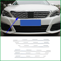 For Peugeot 308 T9 2016 2017 2018 Stainless Steel Front Grille Grill Rack Decorative Cover Sticker Trim Car Styling Accessories