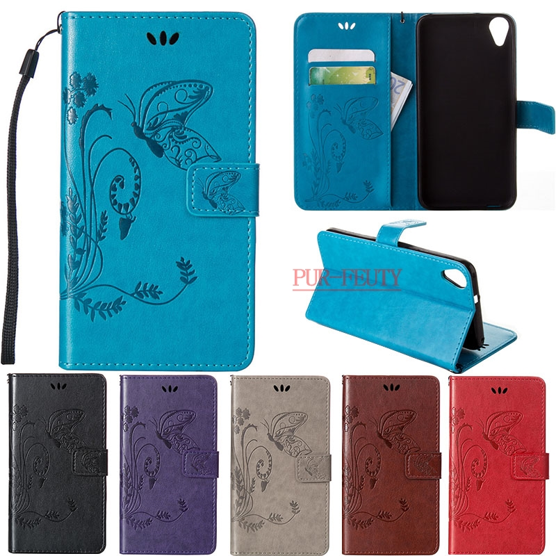 For HTC Desire 820 Dual SIM Case luxury Butterfly Pattern Embossed PU Leather Flip Cover Wallet Case For Coque HTC Desire 820G s