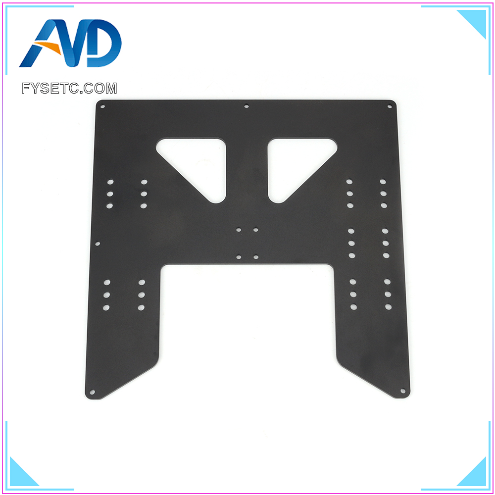 Black 3D Printer Parts Upgrade Y Carriage Anodized Aluminum Plate For A8 Hotbed Support For Prusa I3 Anet A8 3D Printers
