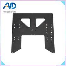Siyah 3D Yazıcı Parçaları Yükseltme Y Arabası Anodize Alüminyum Plaka Için A8 Yatağı Destek Prusa Için I3 Anet A8 3D yazıcılar