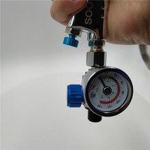 Мини-регулятор давления клапана, точный регулятор давления с дисплеем, подходит для распылителя, регулировка воздуха