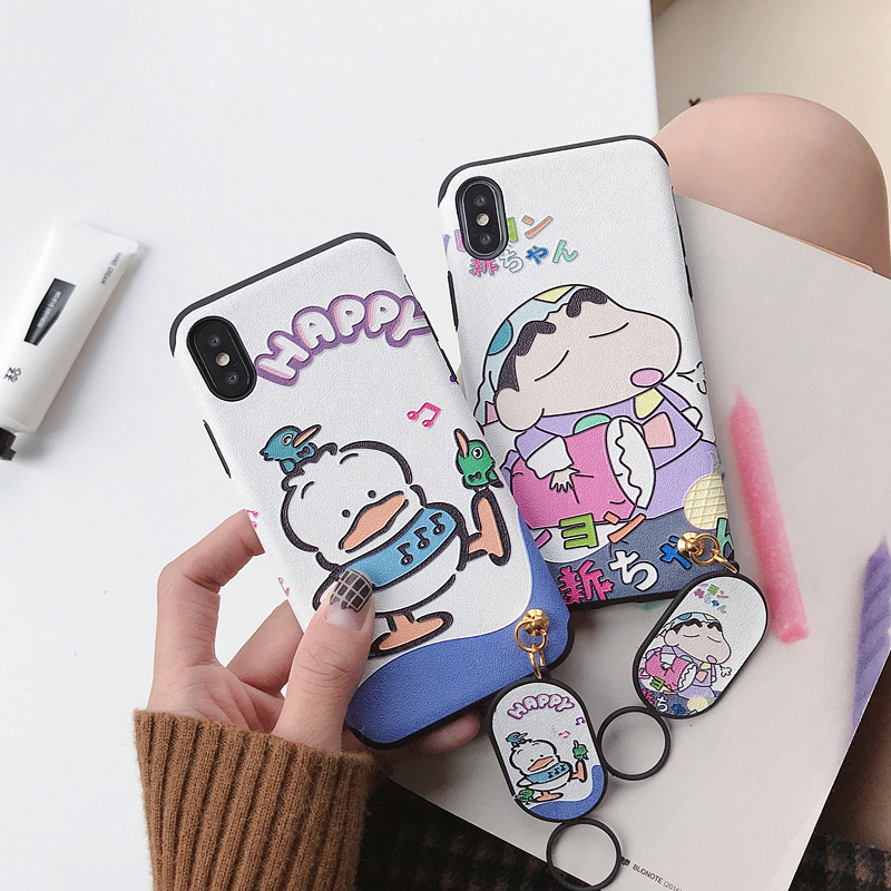 Cartoon Crayon Shin Chan Matte Silicone Phone Case For