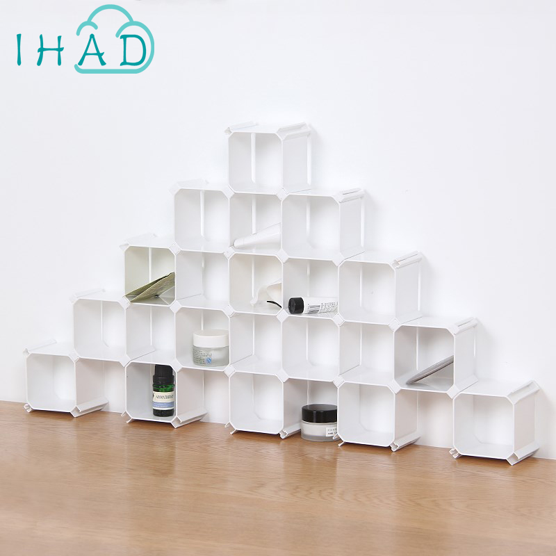 DIY hive socks box for drawer underwear tie organizer Plastic storage holder cosmetic stationery GK figure display rack 6pcs/set