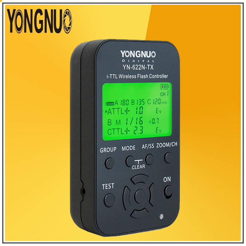 YONGNUO YN622N-TX E-ttl Беспроводная вспышка контроллер YN622N i-ttl радио флеш приемопередатчик поддержка для всех цифровых зеркальных камер NIKON