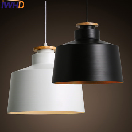 IWHD White Pendant Lamp Led Creative Lid Pendant Lighting Fixtures Single Head Dining roon Bar Iron Hanglamp Luminaire Lustre iwhd led pendant light modern creative glass bedroom hanging lamp dining room suspension luminaire home lighting fixtures lustre
