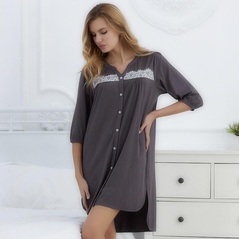 New Arrival 2018 Autumn Women Pure Modal Floral Sleep Tops Ladies lcomfortable lounge Homewear European Retro Style 71126