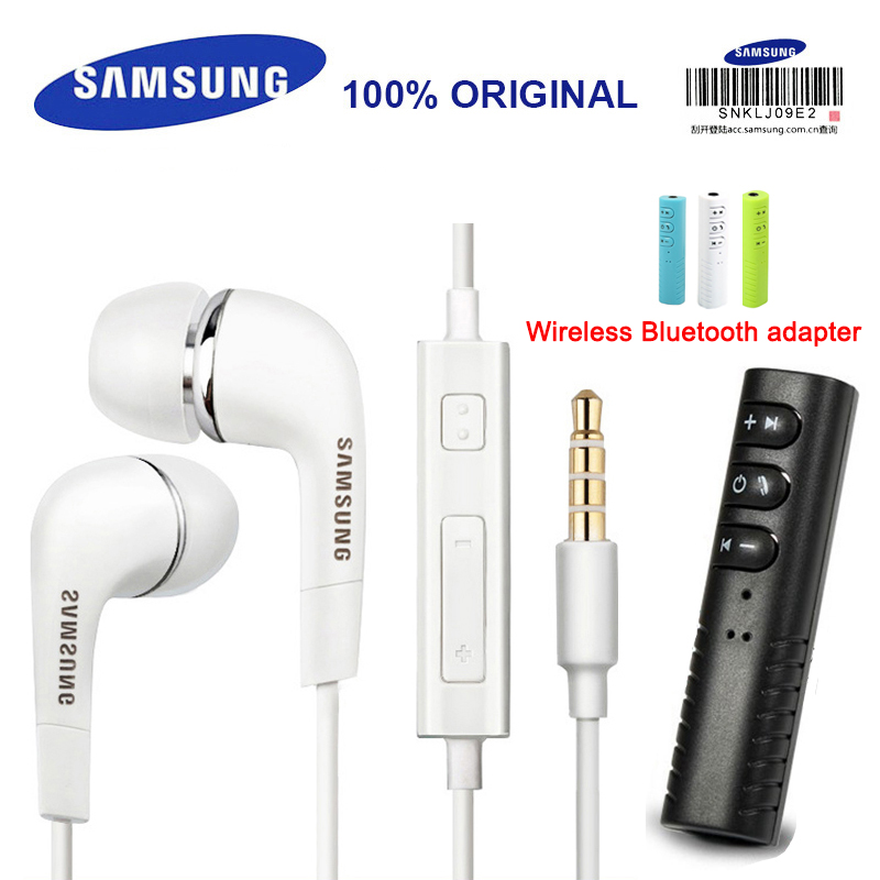 SAMSUNG EHS64 Earphone Wired with Built-in Microphone In-Ear Earphones 3.5mm with Wireless Bluetooth adapter For XiaoMi HuaWei