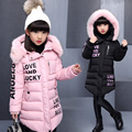 2016 Brand Winter Children's duck down Outerwear&Coats fur long model warm Girl Down jackets coats Warm baby girl down jacket