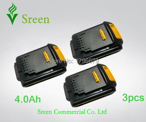 3pcs 4000mAh Rechargeable Li-ion Battery Replacement for DEWALT 18V DCB200 DCB201 DCB203 DCB204 DCB180 DCB182 DCB181 Power Tool 18v 3 0ah nimh battery replacement power tool rechargeable for ryobi abp1801 abp1803 abp1813 bpp1815 bpp1813 bpp1817 vhk28 t40