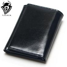hot deal buy tauren oil wax leather wallet female wallets with zipper coin bag genuine leather women wallets small short purses for female