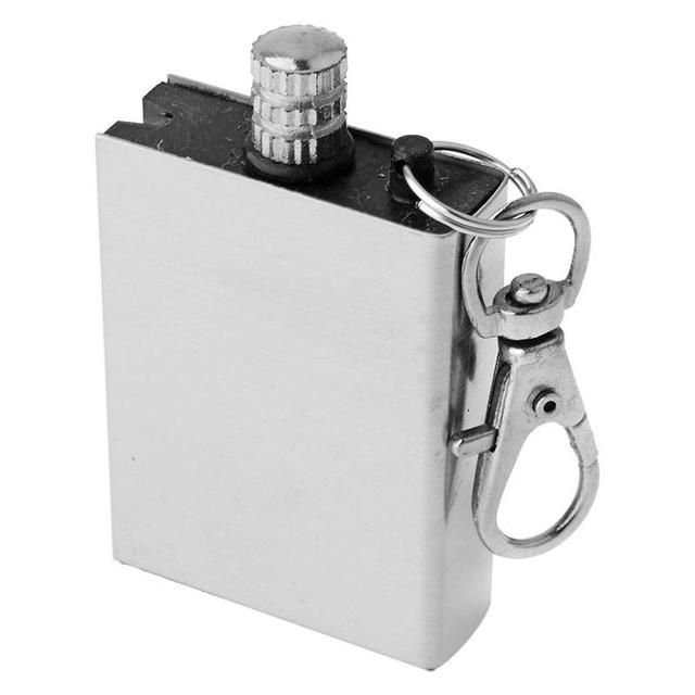 Mounchain Creative Stainless Steel Waterproof Match Lighter Square Shape Christmas Gift