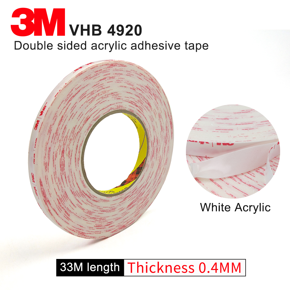 3M brand tape 4920 VHB double sided tape clear transparent acrylic VHB 0.4mm thickness 3M tape