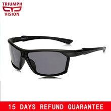 d51b426a52 TRIUMPH VISION UV400 Protection Sunglasses for Men Black Plastic Shades  Oculos Male Drive Sun Glasses for Men HD Polarized Brand