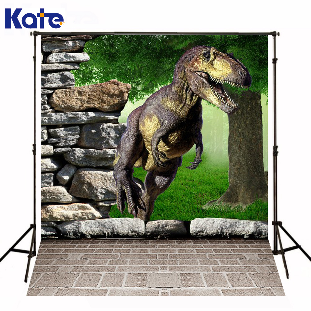 Kate Pundo Dinosaur Photography Background Rock Trees Jurassic World 3D Camera Digital Backdrop Background For Photo Stuio kate digital photography backdrop