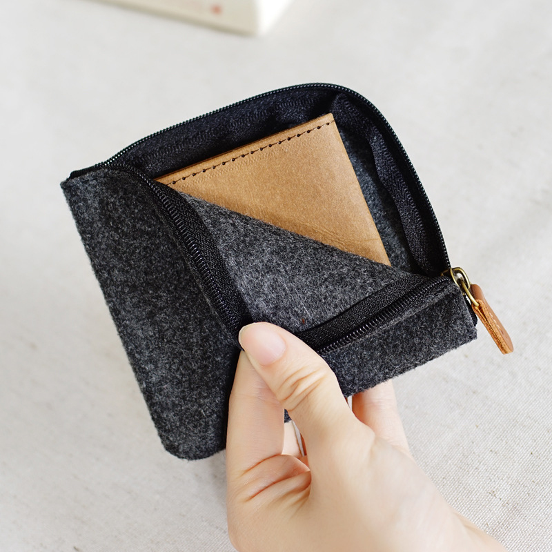 70PCS LOT Coin Bag Unsex Coin Purse Zipper Square Pure Colors Coin Wallet Women Men Felt Pouch Money Bag Wholesale in Coin Purses from Luggage Bags