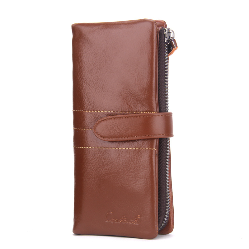 New Arrival Genuine Leather Wallets Men Cow Leather Clutch Bag Real Leather Wallet Credit Card Holder Females Coin Purse Bolsa