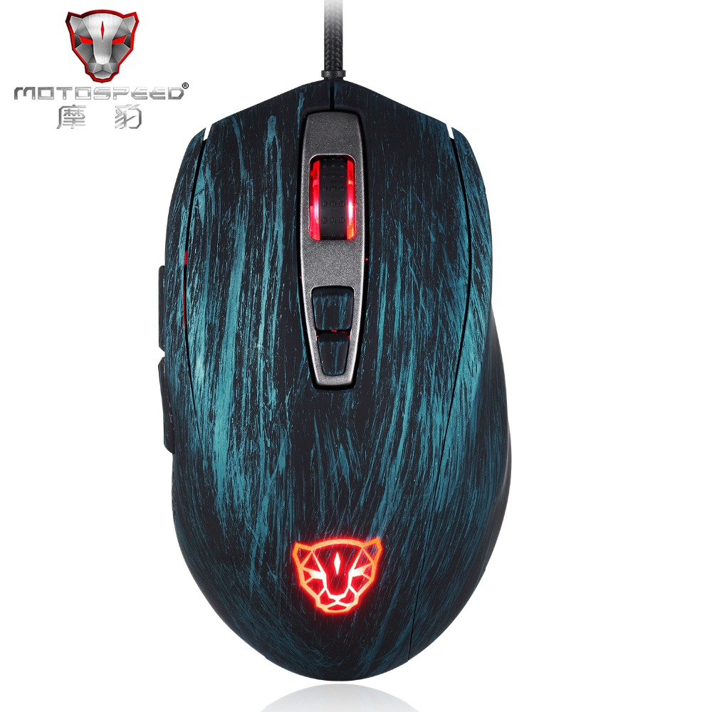 Motospeed V60 5000 DPI Wired Gaming Mouse 7 Keys Rato com fio Computer Peripherals