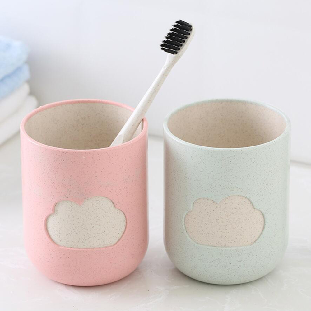 1PC Material Cloud Pattern Bathroom Big Mouth Toothbrush Holder Cup Couples Durable Wash Tooth Mug Bottle For Bathroom 100gB image