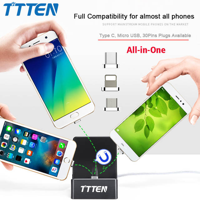 Ttten Magnet Charger Desktop Micro Usb Type C All In One Charging Station Universal Dock