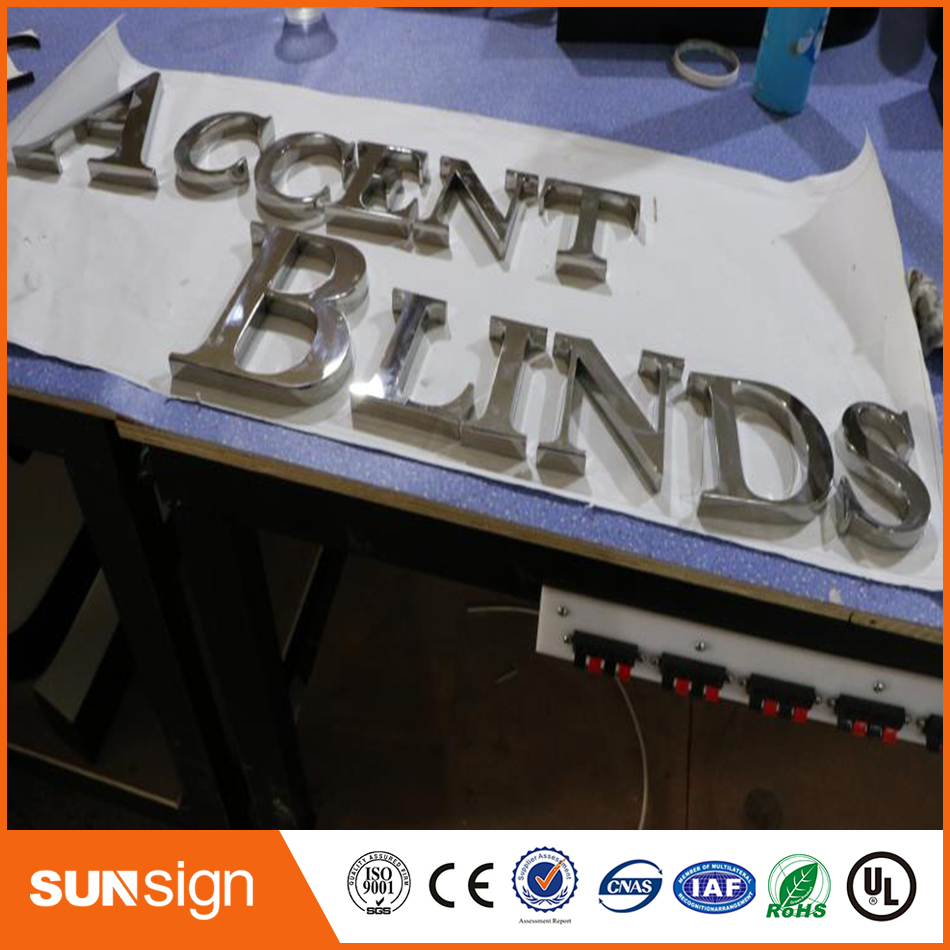 Mirror Stainless Steel 3D Channel Letters